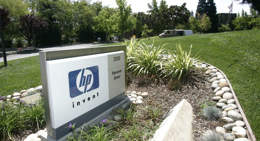 Hewlett-Packard er et af verdens største teknologiselskaber, men indtjeningen halter voldsomt. Arkivfoto: Hector Mata, AFP/Scanpix