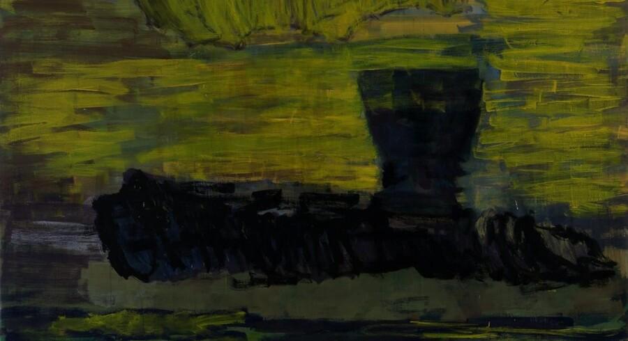 Per Kirkebys maleri fra 2006 »Fram i haven« henviser blandt andet til kunstnerens optagethed af geologien og udforskningen af de arktiske egne. Fram var navnet på et ekspeditionsskib, der blev brugt for omkring 100 år siden.