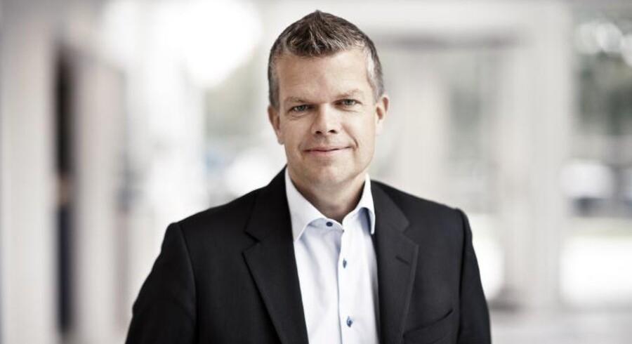 Onsdag landede regnskabet fra Chr. Hansens 1. kvartal i det skæve regnskabsår. Et god start på året med en organisk vækst på 9 procent, hvor enzymvirksomheden fastholder forventningerne til 2014/2015. På billedet ses finansdirektør i Chr. Hansen, Klaus Pedersen.