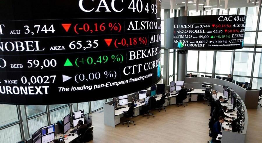 Arkivfoto fra Euronext børsen nær Paris.