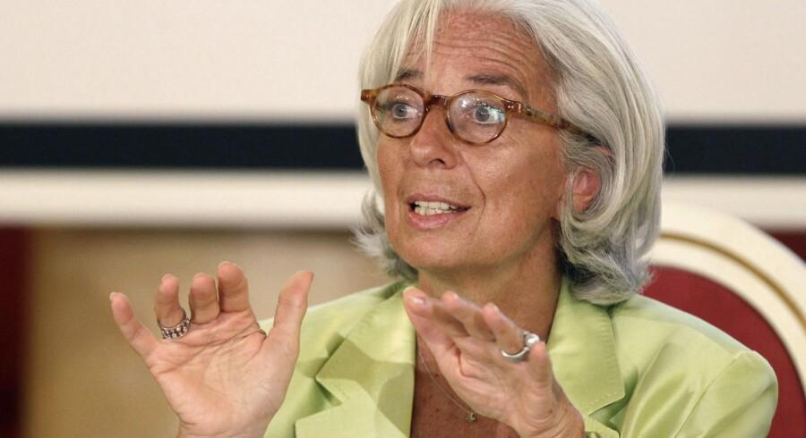 IMF-chef Cristine Lagarde advarer imod »et kapløb mod udgangen«.