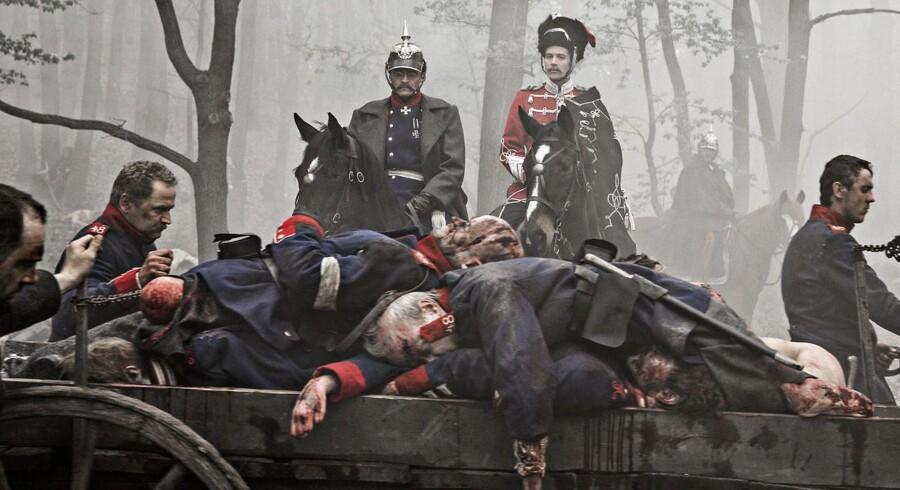 En ny kulturaftale mellem Danmark og Tyskland skal støtte film og TV om dansk tyske forhold, såsom DRs stort anlagte krigsserie »1864«, men det er forventningen, at aftalen også vil føre til mindre krigeriske historier. Foto: DR