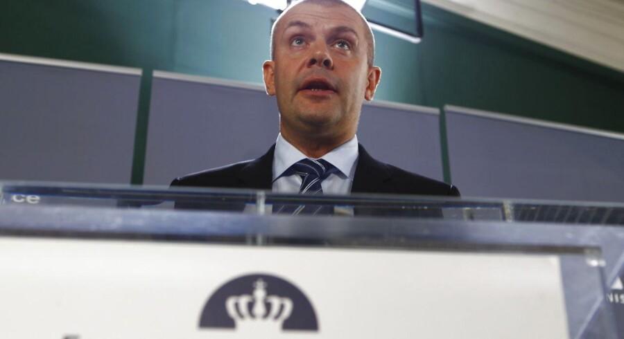 Finansminister Bjarne Corydon (S) præsenterer regeringens forslag til ny finanslov.