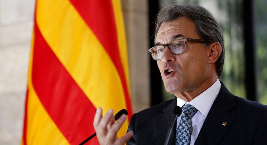 Cataloniens leder, Artur Mas.