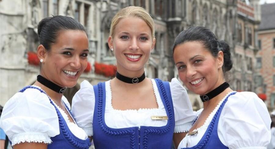 Eins, twei, g'suffa! Lufthansa fejrer Oktoberfest ombord på flyene fra München.