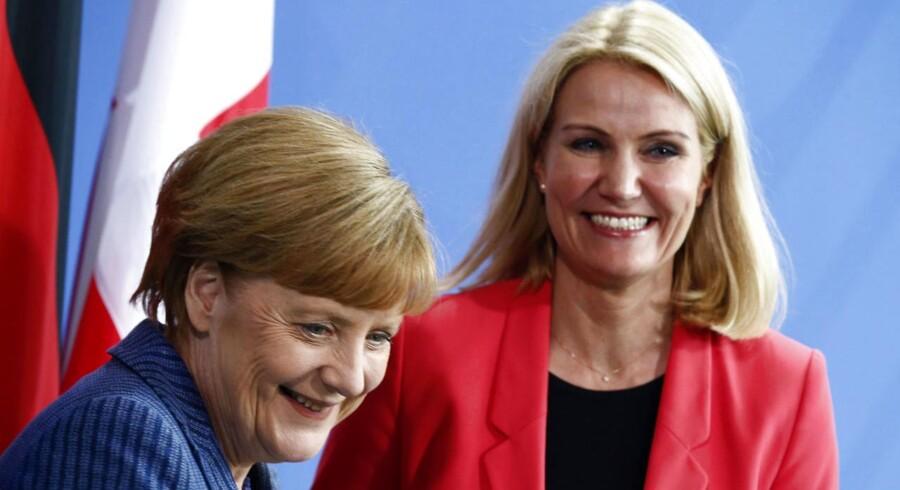 Kansler Merkels besøg vil få bl.a medierne til at se tilbage på sidste sommer, hvor Thorning besøgte Merkel i berlin, og hvor rygterne om et topjob i EU til den danske statsminister florerede.
