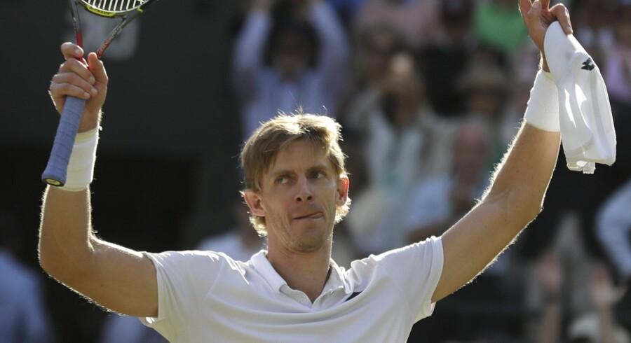 Sydafrikanske Kevin Anderson spillede sig onsdag i semifinalen ved Wimbledon. Han er den første sydafrikaner i semifinalen siden 1983. Ben Curtis/Ritzau Scanpix