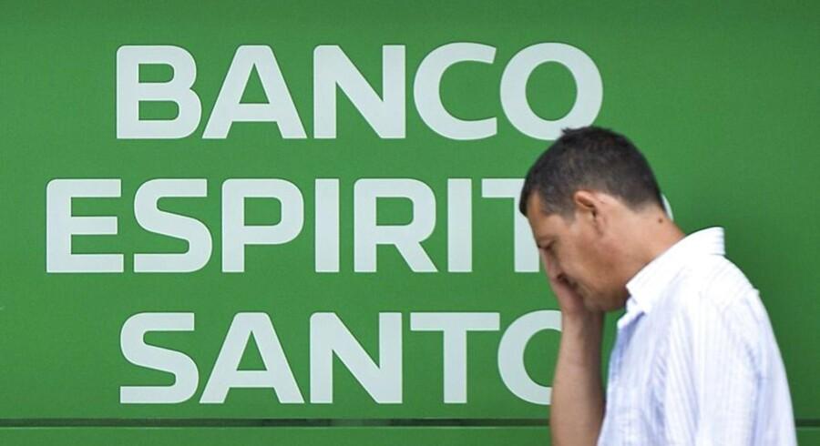Det er gået helt galt for Banco Espirito Sancto, hvor aktien nu er suspenderet på børsen i Lissabon