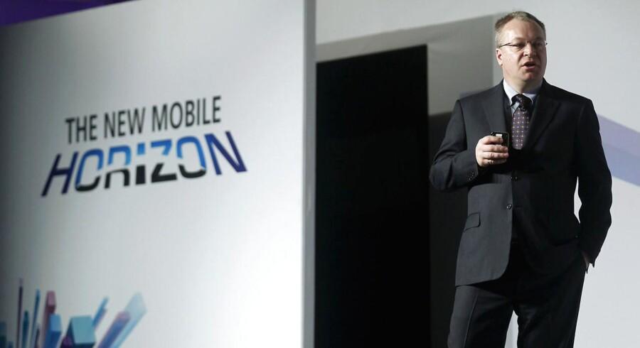 Canadiske Stephen Elop har stået i spidsen for Nokia siden 2010 og har lagt den finske mobilgigants kurs helt om - indtil videre aldeles op ad bakke. Arkivfoto: Albert Gea, Reuters/Scanpix