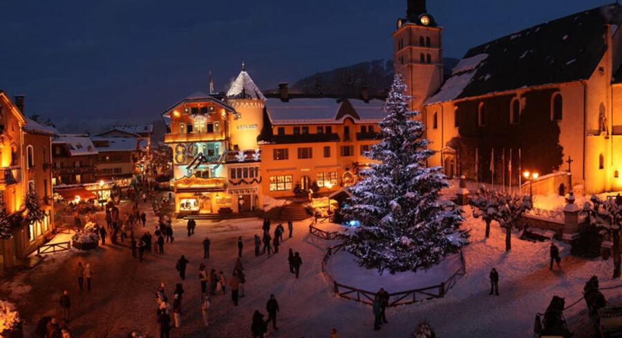 Megève er gourmetrestauranter og historie. Og smukt skiløb.