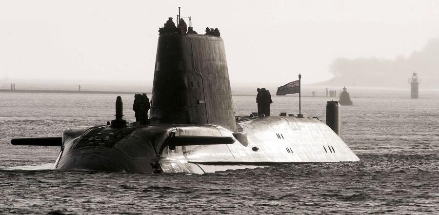 Den britiske flådes nyeste ubåd, »HMS Astute«.