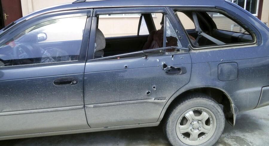 Bilen som den dræbte fotograf Anja Niedringhaus og den sårede journalist Kathy Gannon blev angrebet i.