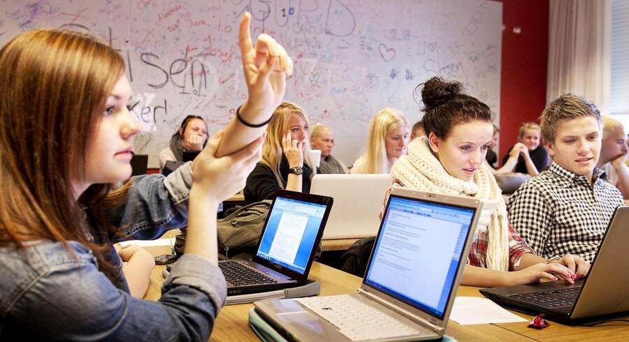Rødovre Gymnasium er et af de gymnasier, eleverne selv mener er støjende i undersøgelsen fra sidste år.