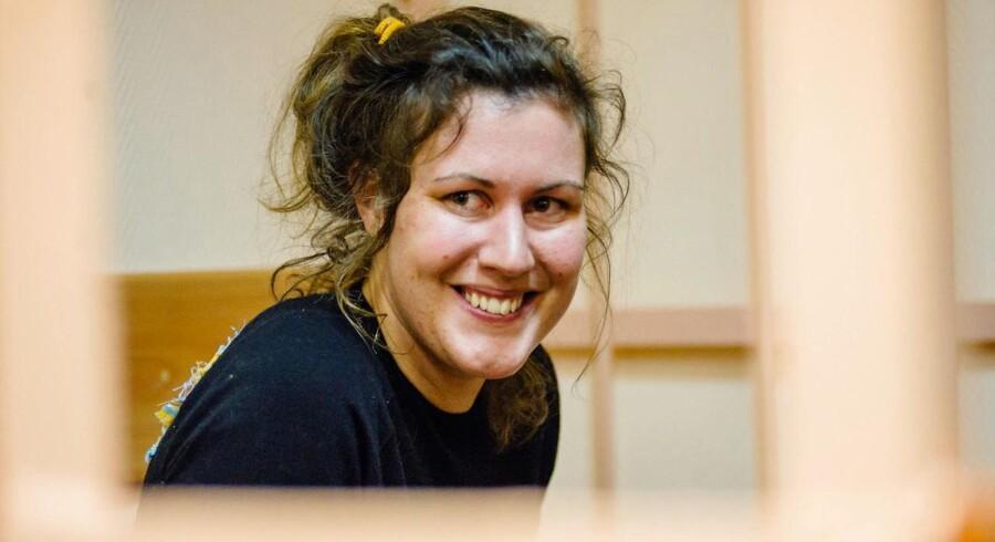Anne Mie Roer Jensen, der nu har fået amnesti, ses her under en høring i retten i Sankt Petersburg.