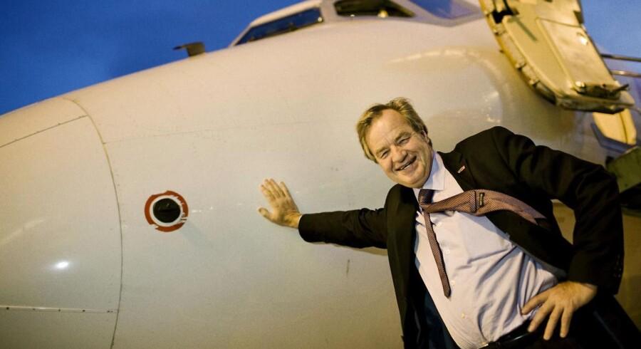 Norwegians direktør og grundlægger, Bjørn Kjos kan glæde sig over ny passagerrekord.