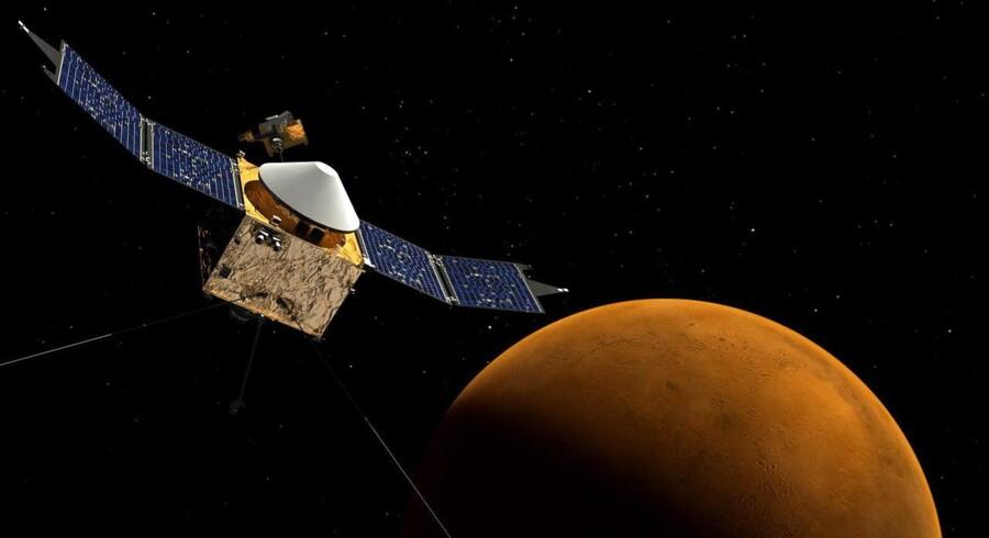 Koncept illustration af NASAs MAVEN rumfartøj.
