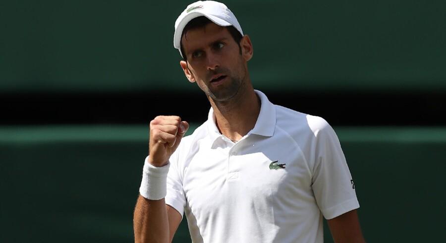 Novak Djokovic er klar til semifinalen i Wimbledon. Daniel Leal-Olivas/Ritzau Scanpix