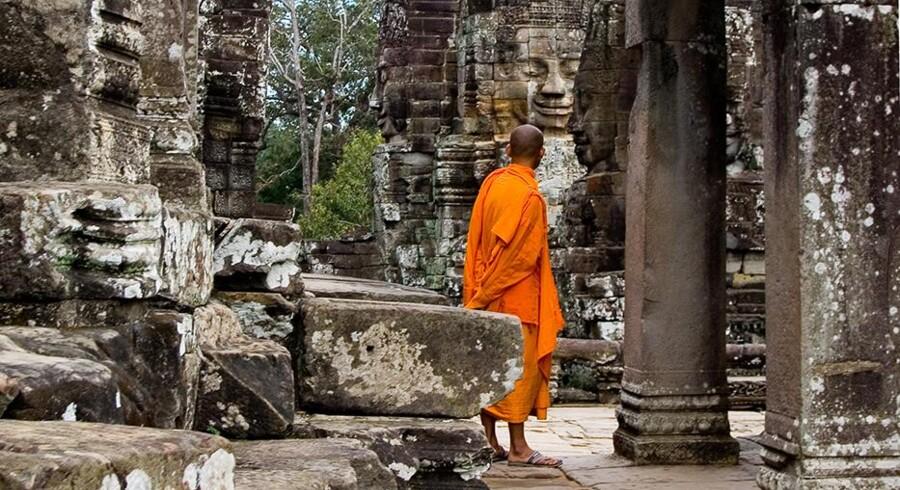 Angkor Wat er en af de største seværdigheder i Cambodja.