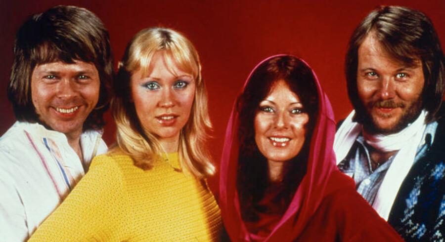ABBA i sin storhedstid. Björn Ulveaus, er står til højre, får nu 63 millioner kroner tilbage i skat.
