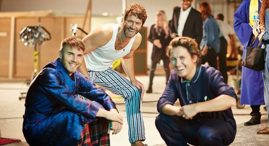 Take That er reduceret til en trio bestående af Gary Barlow, Howard Donald og Mark Owen. PR-foto