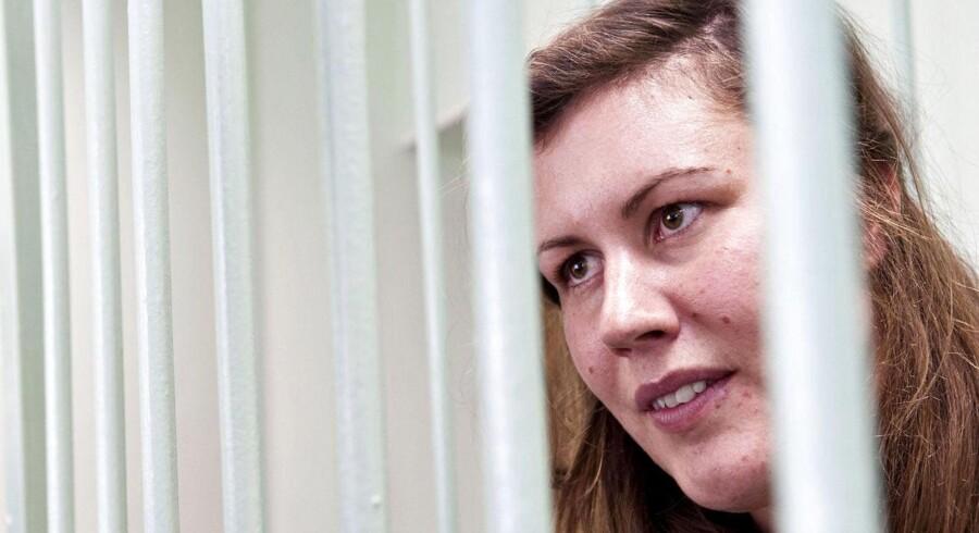 ARKIVFOTO. De 30 mænd og kvinder - deriblandt danske Anne Mie Roer Jensen - som siden september har befundet sig i en detention i den russiske by Murmansk, efter at de med skibet Arctic Sunrise bordede en russisk olieplatform, ser nu ud til at blive overført til et fængsel i Skt. Petersborg.