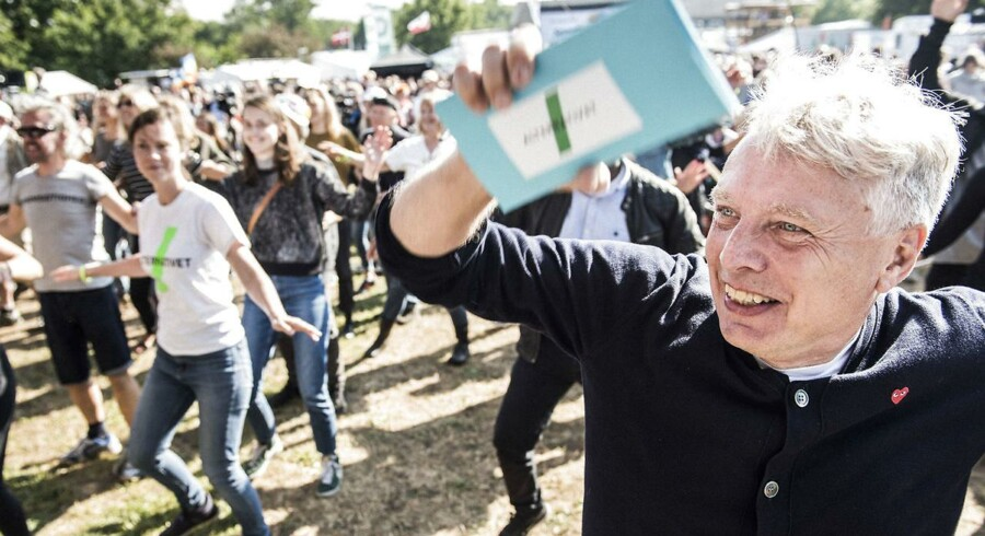 Uffe Elbæk i gang med alternative aktiviteter til Folkemødet 2016.