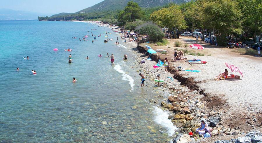 Der ligger flere fine strande tæt på Kusadasi. Her er det den populære Dame-stranden, som tidligere var forbeholdt kvinder – nu er alle velkomne.