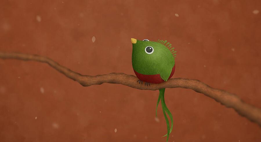 Ubuntu 12.10 er opkaldt efter de farvestrålende Quetzal-fugle. På billedet er det tydeligvis en han, der er gengivet, da hunnerne er mere brune eller grå i fjerdragten. Foto: Canonical