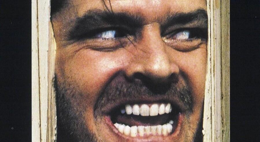 Jack Nicholson på coveret til den filmatiserede kultklassiker om hotellet.