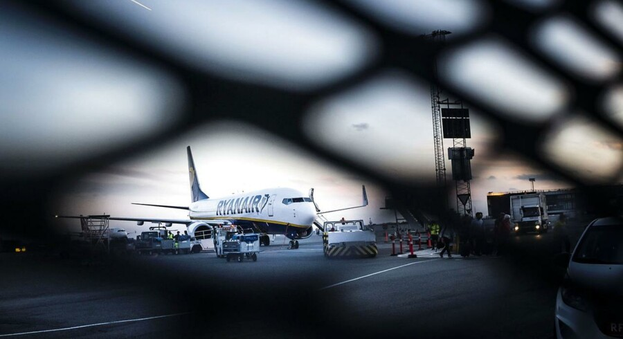 Fly fra Ryanair i Københavns lufthavn.
