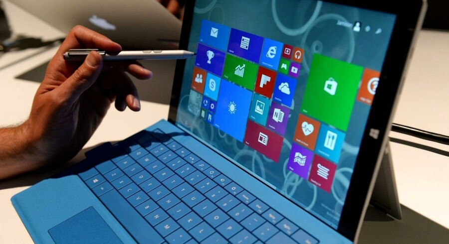 Den nye Microsoft Surface Pro 3 som blev offentliggjort d. 19 maj.