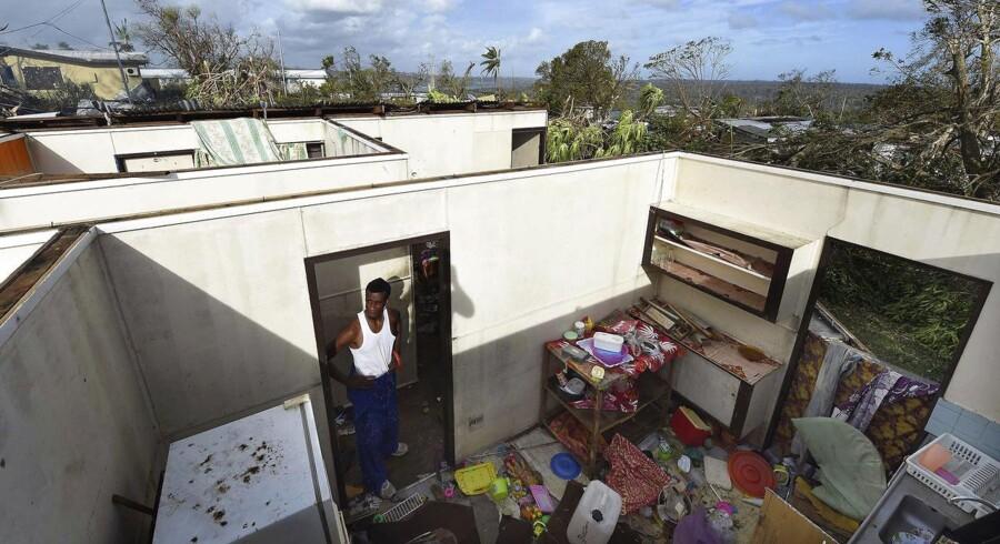 Et hjem ødelagt af cyklonen Pam i Port Vila.