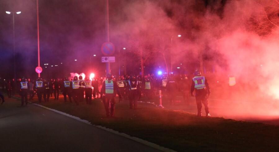 Uro efter pokalsemifinalen mellem Brøndby og FC København torsdag d. 20 april 2016 i Brøndby
