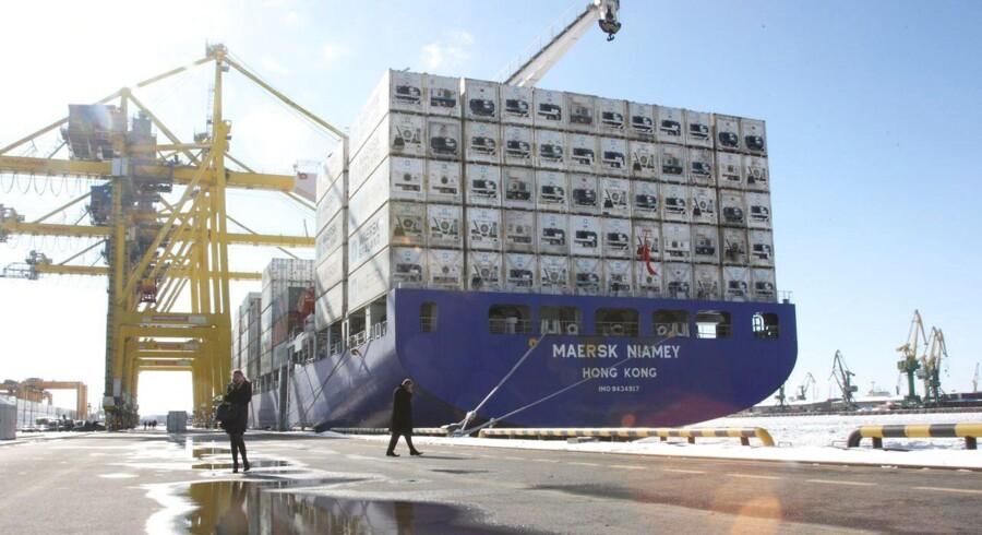 Et Mærks-fartøj i St. Petersburg. (Arkivbillede)