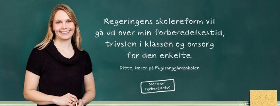 Kampagneplakat fra Lærerforeningens hjemmeside.