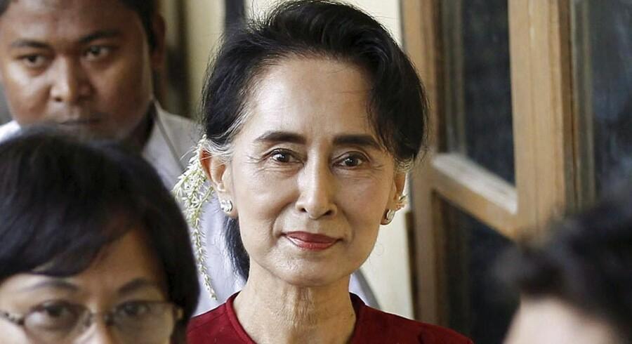 Aung San Suu Kyi har muligvis udsigt til en valgsejr i Myanmar.