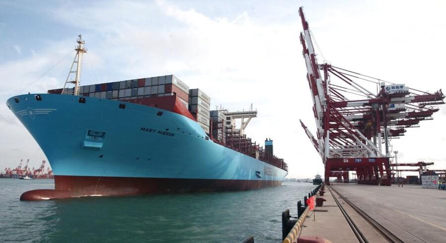 Maersk Lines EEE-skibe er snart ikke længere de største skibe i verden.