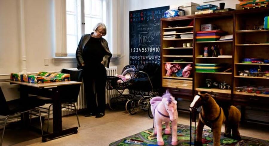 Børnesagkyndig Karin Guldhammer, Statsforvaltningen Sjælland, i det rum, hvor hun møder de børn, der er hovedpersoner i sager om forældreansvar.