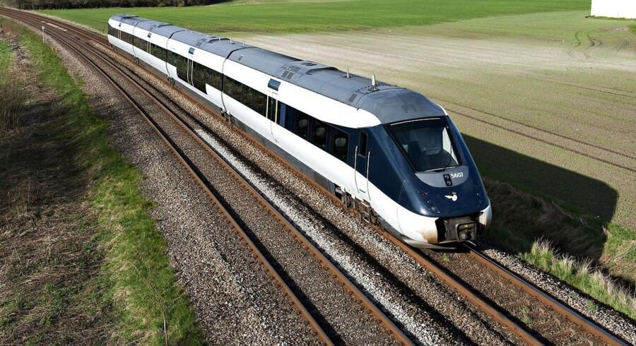 Et IC4 på Nordvestbanen mellem København og Kalundborg, hvor de nye business-togvogne skal sættes ind, hvis det står til Novo.
