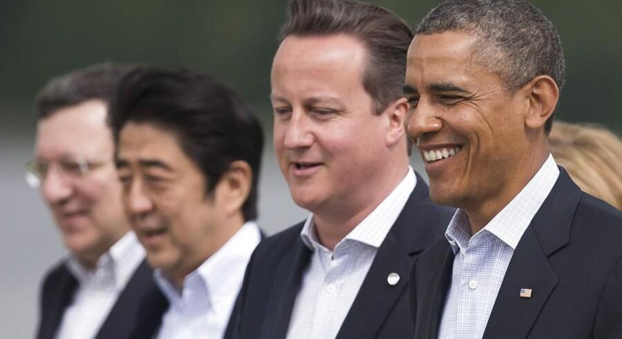 EU-Kommissionens formand Jose Manuel Barroso, Japans premierminister Shinzo Abe, Storbritanniens premierminister David Cameron og USAs præsident Barack Obama er blandt de ledere for verdens store økonomier, som vil have bedre muligheder for at afsløre skatteunddragelse.