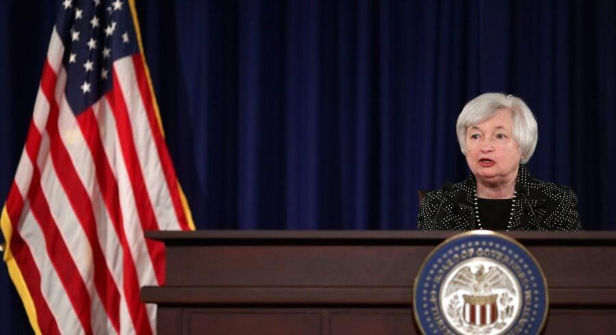 Den amerikanske centralbankchef, Janet Yellen, holder i eftermiddag åbningstalen ved Federal Reserve Bank