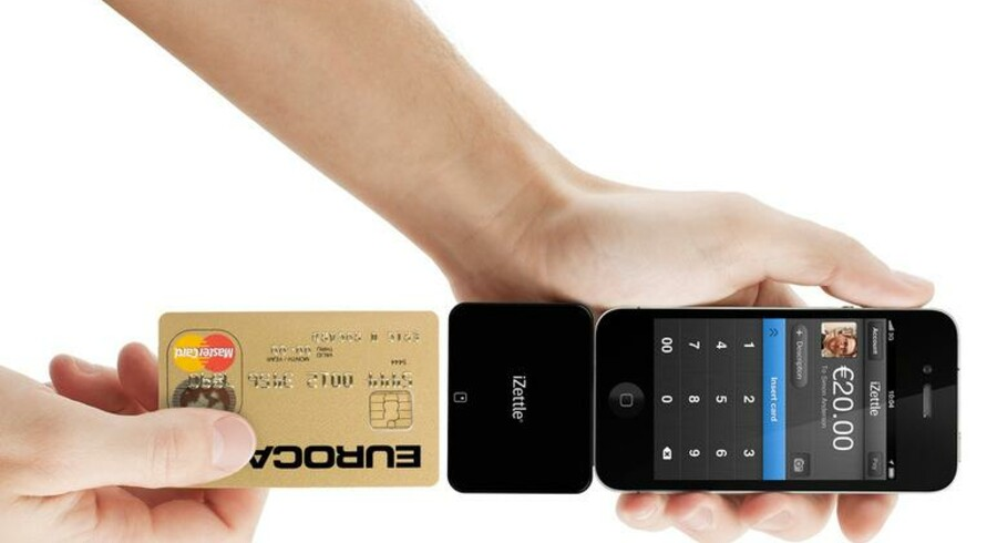 iZettle gør det muligt at betale med chipkort på mobiltelefonen, men Visas boykot af tjenesten gør, at man i Danmark kun kan bruge Mastercard og Diners Club.