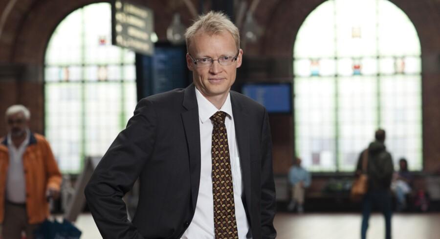 Den konstituerede administrerende direktør i DSB, Jacob Kjær, er ikke tilfreds med togselskabets regnskab.