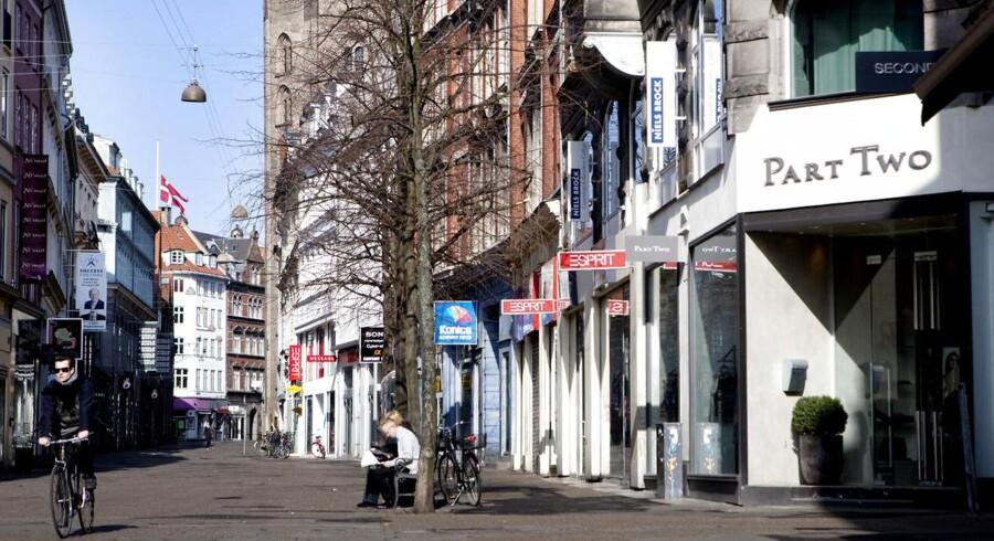Købmagergade i København. Det er i dette område, at den omtalte bygning ligger.