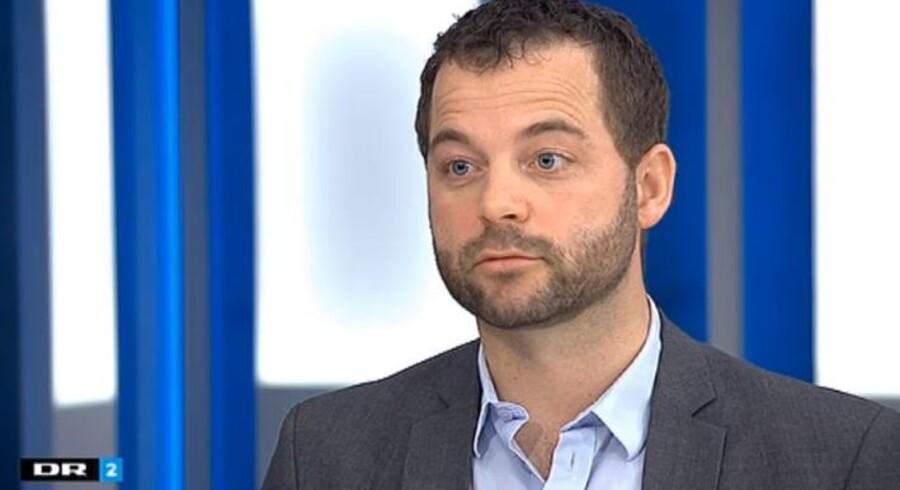 Den radikale leder, Morten Østergaard, bliver interviewet af DR2s Deadline-vært Martin Krasnik.