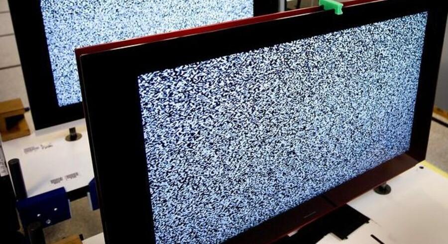Sådan kan det ende med at se ud, når mobilsignalet forstyrrer TV-signalet. Arkivfoto: Morten Melhede, Scanpix