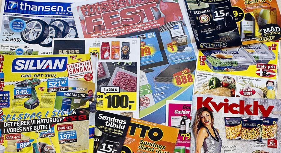 Forbrugerne får nu mulighed for at sige ja tak til visse tilbudsaviser og nej tak til andre. Foto: Nils Meilvang