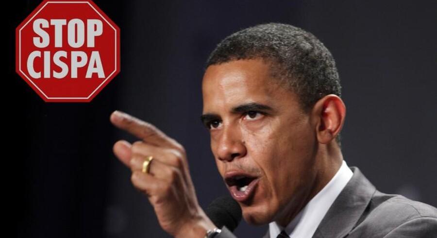 Præsident Barack Obama lover at nedlægge veto, hvis det kontroversielle CISPA-lovforslag når hele vejen til hans skrivebord.
