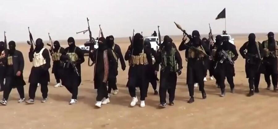 Et stillbillede fra en propagandavideo for den islamistiske gruppe ISIS, der er på voldsom fremmarch i Irak.