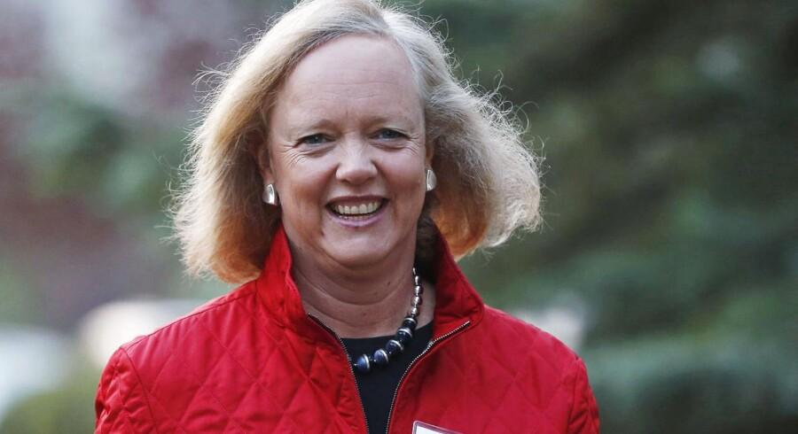 Hewlett-Packards topchef, Meg Whitman, har grund til at smile over udsigterne til, at hendes redningsplan nu ser ud til at bære frugt. Arkivfoto: Jim Urquhart, Reuters/Scanpix